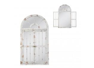 Nástěnné zrcadlo ve vintage stylu / okno - 108*60*3 cm
