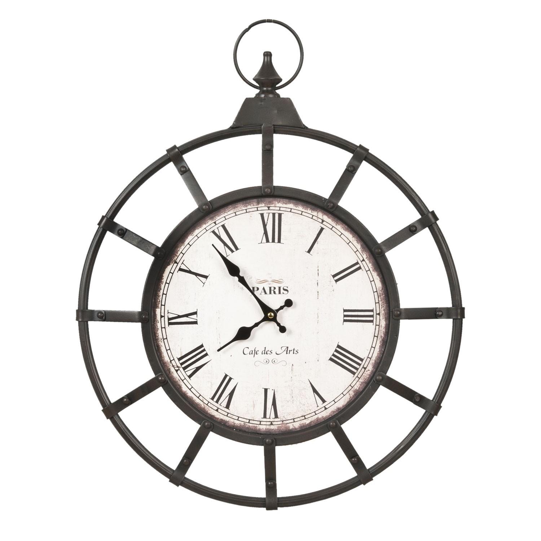 Kovové nástěnné hodiny Paris - 50*4*63 cm