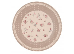 Talíř mělký květy puntík - průměr 26 cm