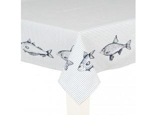 Ubrus Boat and Fish - 100*100 cm