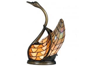 Dekorativní lampa Tiffany labuť - 45*30 cm 1x E14 / Max 40W
