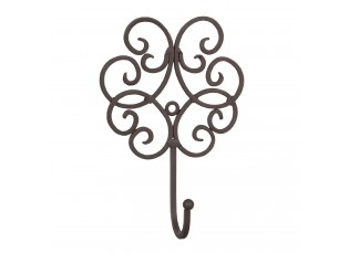 Věšák ornament tmavý - 13*5*19 cm