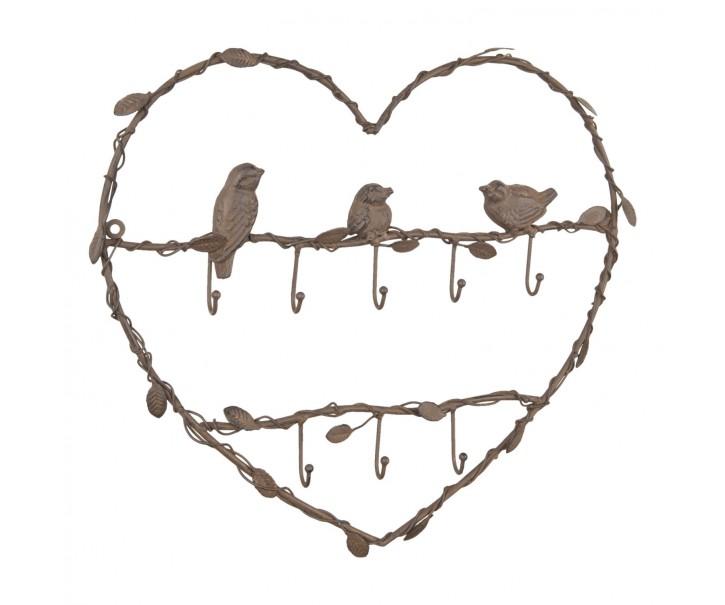 Závěsný věšák s ptáčky - 40*3*50 cm