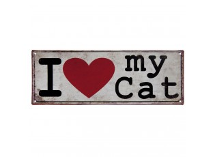 Cedule I love my cat - 20*30 cm