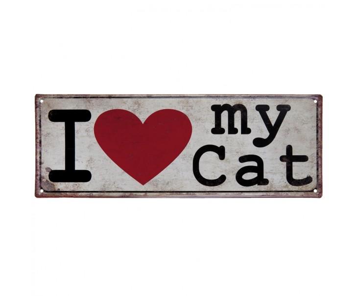 Cedule I love my cat - 20*30 cm