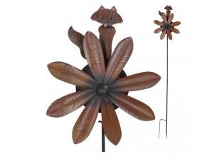 Zapichovací dekorace větrník Liška - 44*13*189 cm