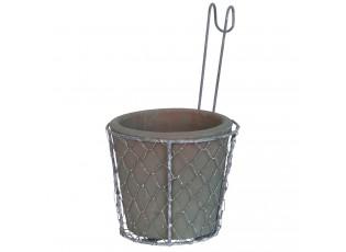 Závěsný držák s květináčem  - 15*25 cm