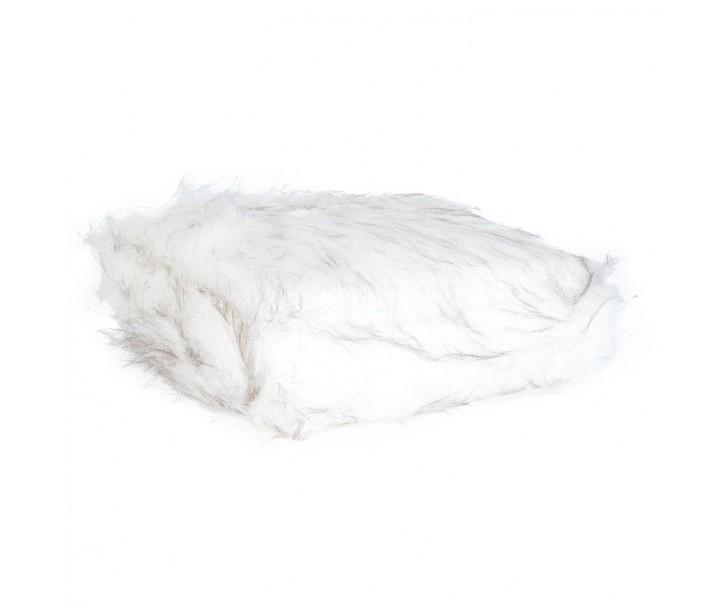 Pléd z umělé kožešiny bílý 130*180 cm