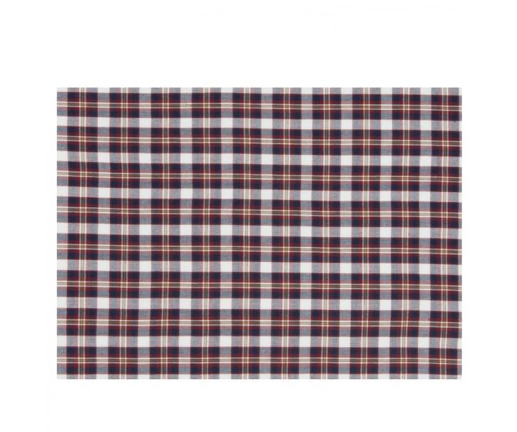 Kostkované textilní prostírání Its Cold Outside - 33*48cm - 6ks