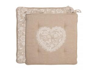 Sedák Lace With Love molitanová výplň - 40*40 cm
