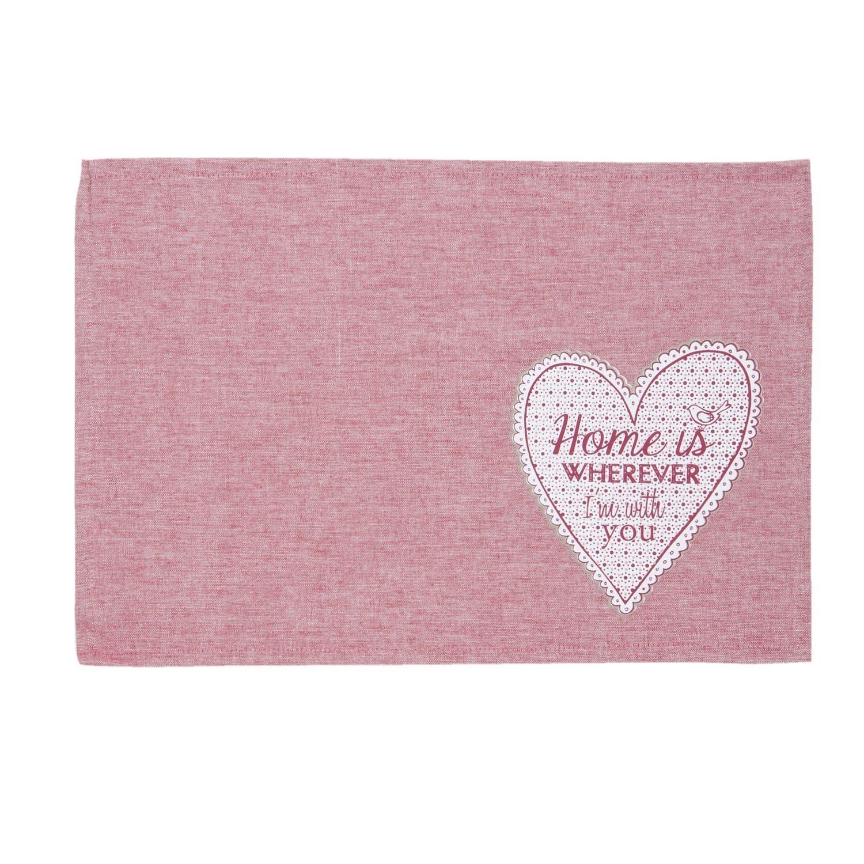 Textilní červené prostírání My Lovely Home 48*33 cm - sada 6 kusů