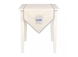 Běhoun na stůl Lait De Vache - 50*160 cm