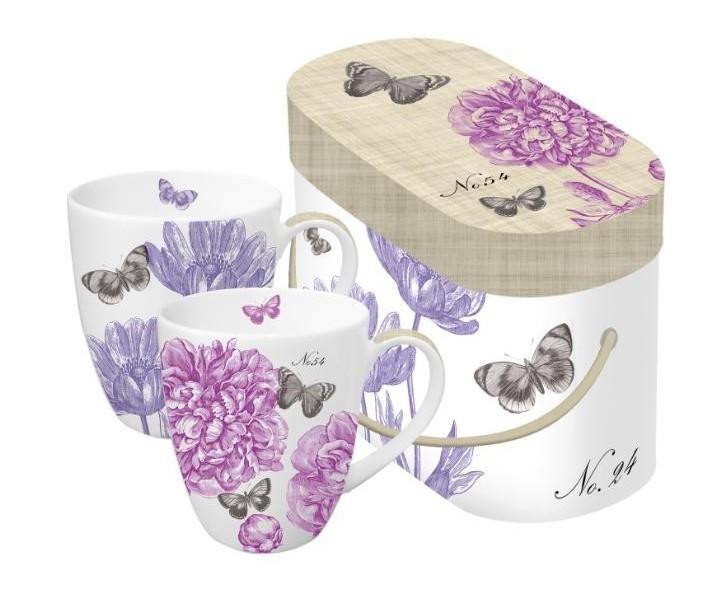 Hrnky Pivoňky a motýli