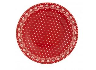 Červený talíř mělký - průměr 26cm