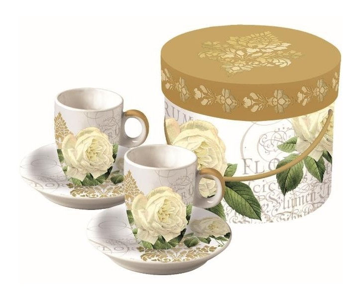 Espresso šálky Mystique Gold Rose