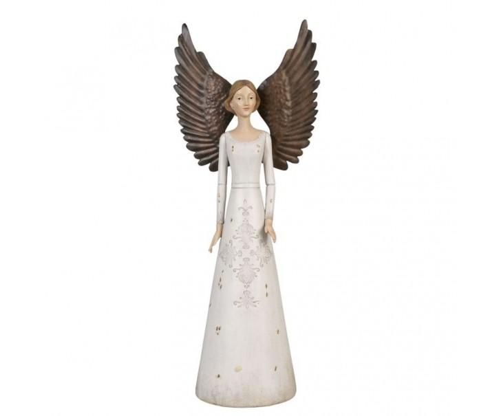 Anděl velký v bílých šatech