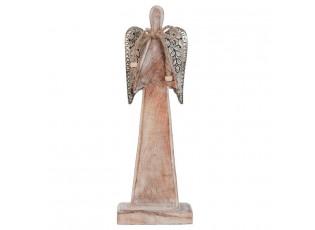 Dřevěný anděl hnědý