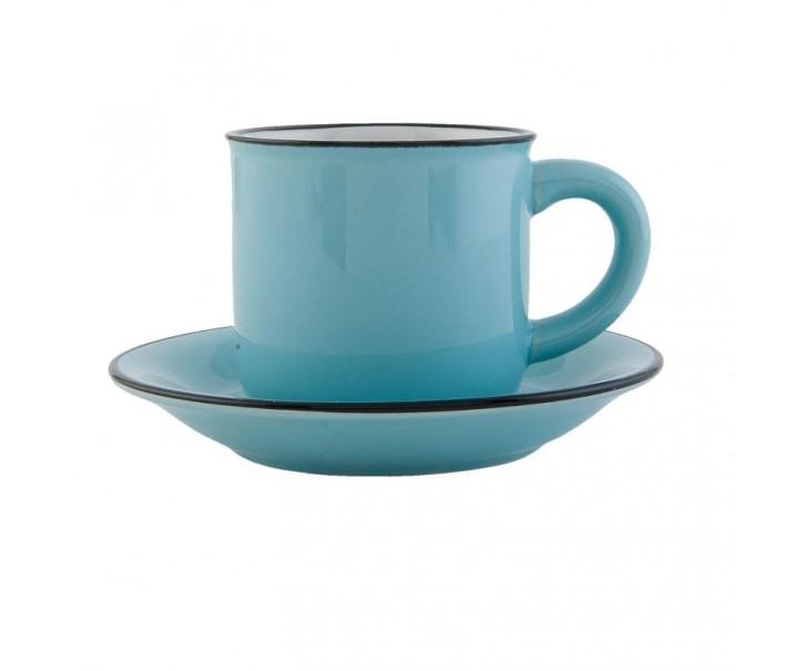 Šálek s podšálkem modrý
