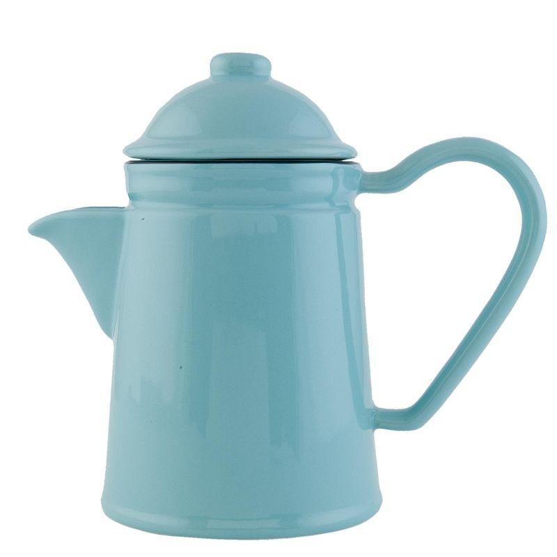 Retro konvička na čaj modrá 0,6L
