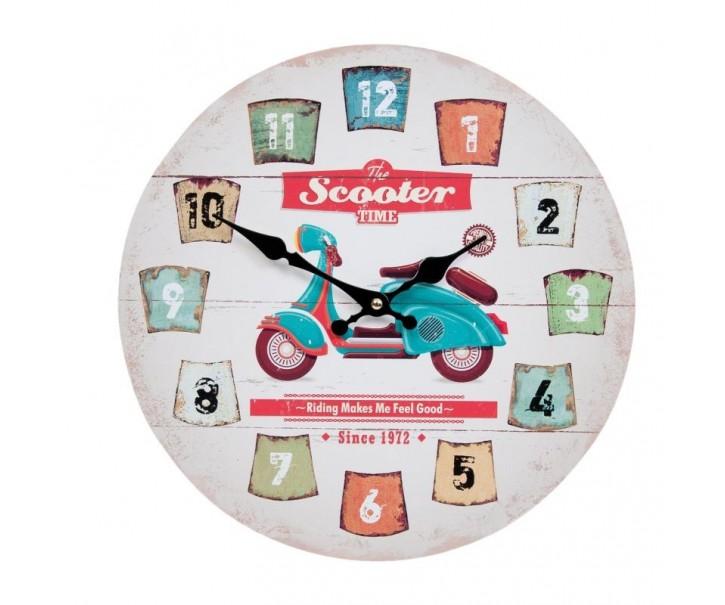 Nástěnné hodiny Scooter Ø 33*3 cm / 1xAA