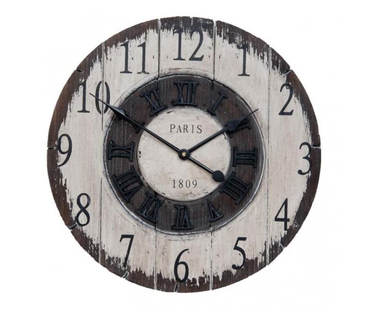 Dřevěné nástěnné hodiny Paris  - Ø 40*3 cm