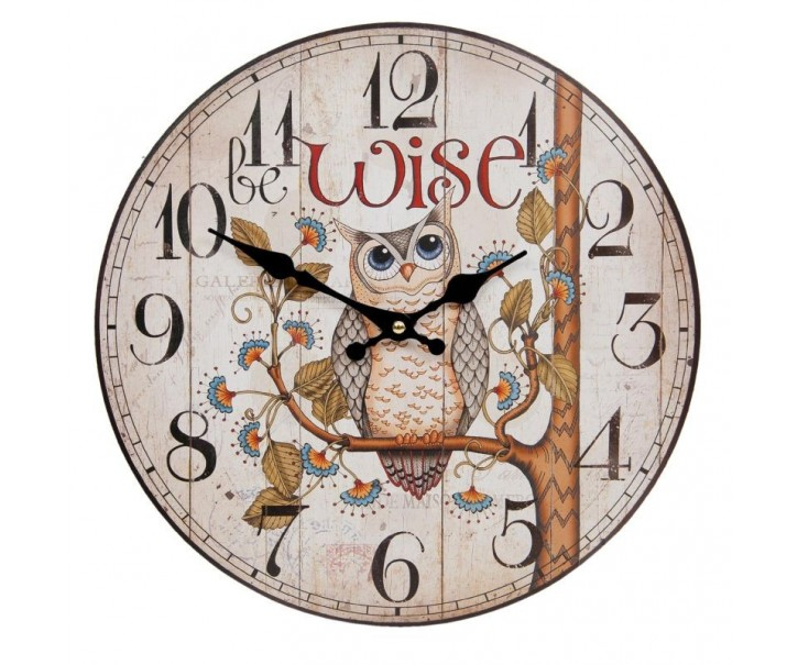 Nástěnné hodiny Ø 34*4 cm / 1xAA