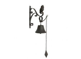 Litinový zvonek sovička