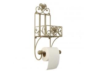 Držák toaletního papíru - dekor květ 20*15*43 cm
