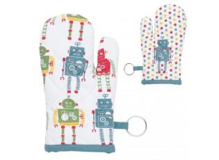 Dětská chňapka roboti  12*21 cm