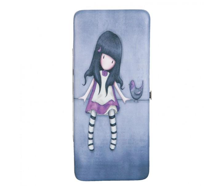 Modrá peněženka s holčičkou