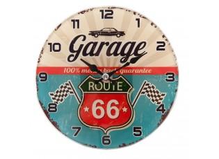 Nástěnné hodiny Route 66 17*4 cm