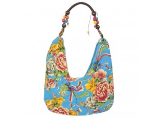 Textilní modrá kabelka 35*28 cm