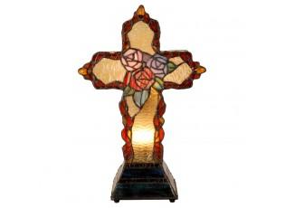 Lampa Tiffany kříž 20 * 12 cm