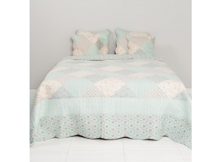 Přehoz na jednolůžkové postele Flower mint - 140*220 cm