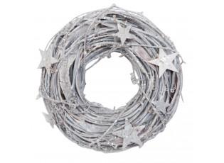 Dekorační věnec bílý Ø 26 cm