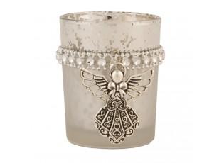 Svícen na čajovou svíčku s andělíčkem Ø 5*6 cm