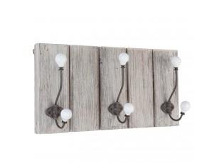 Věšák dřevěný s 3 háčky - 43*13*24 cm