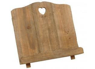 Dřevěný stojan na kuchařku hnědý 33*18*29 cm