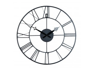 Kovové hodiny s římskými čísicemi Ø 40*4 cm