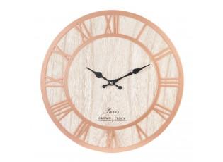 Hodiny oranžové Crown clock Ø 40*3 cm