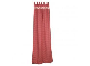 Sada 2x záclona 110*260 cm se srdíčky růžová