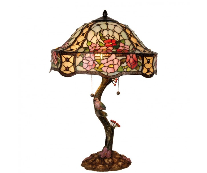 Stolní lampa Tiffany Flowers