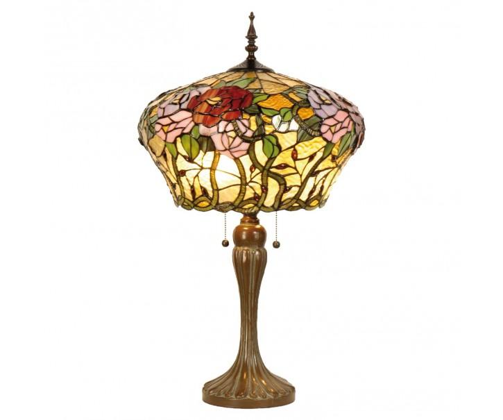 Stolní lampa Tiffany Roses