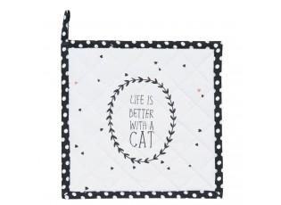 Podložka pod hrnec bílá Cat Lovers