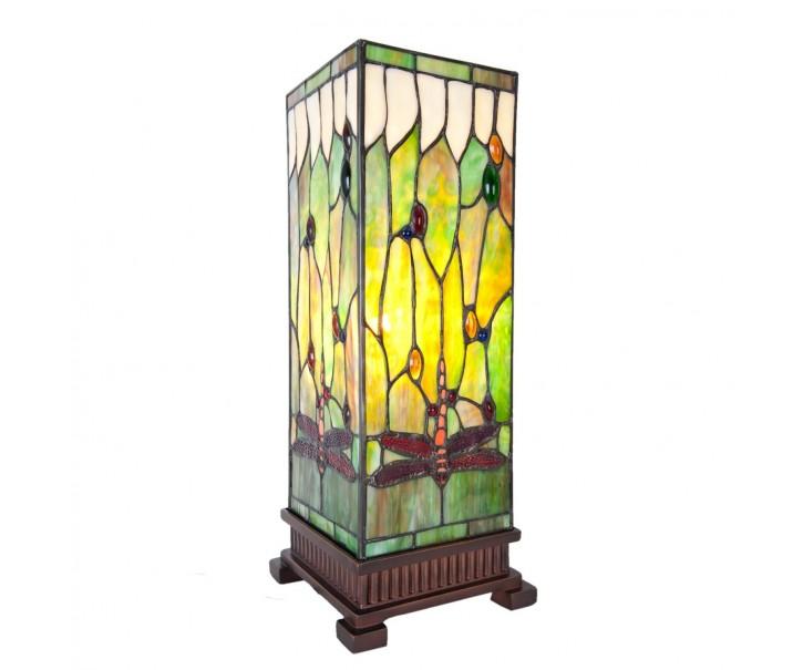Stolní lampa Tiffany Dragonfly square