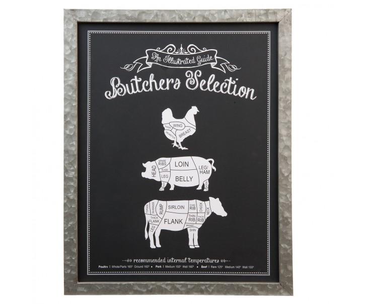 Dřevěná cedule Butchers selection