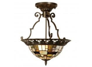 Závěsné svítidlo Tiffany Blocked - Ø 37*41 cm 2x E14 / Max 40W