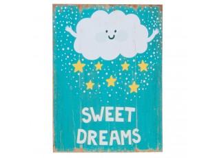 Dřevěná cedule Sweet dreams