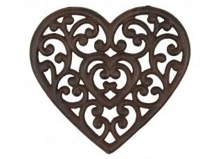 Litinová podložka srdce - 21*20 cm