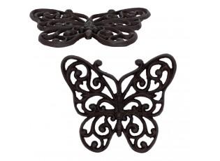 Litinová podložka motýl - 21*18*1 cm